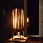 lampe chevet bois artisanat