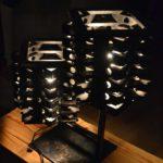 lampe bois acier