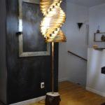 lampe bois artisanat