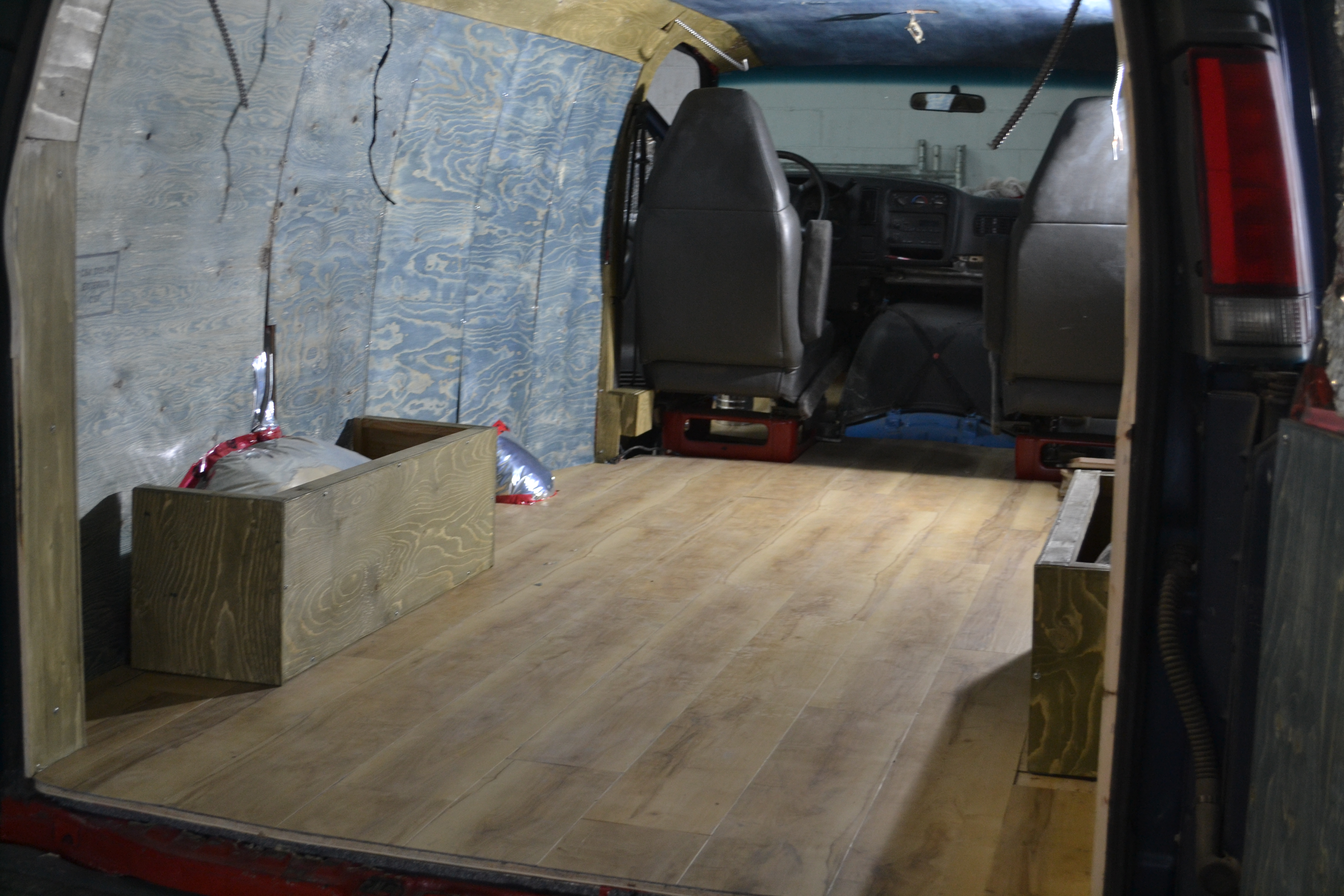 Refurbishing the van- Installing the flooring