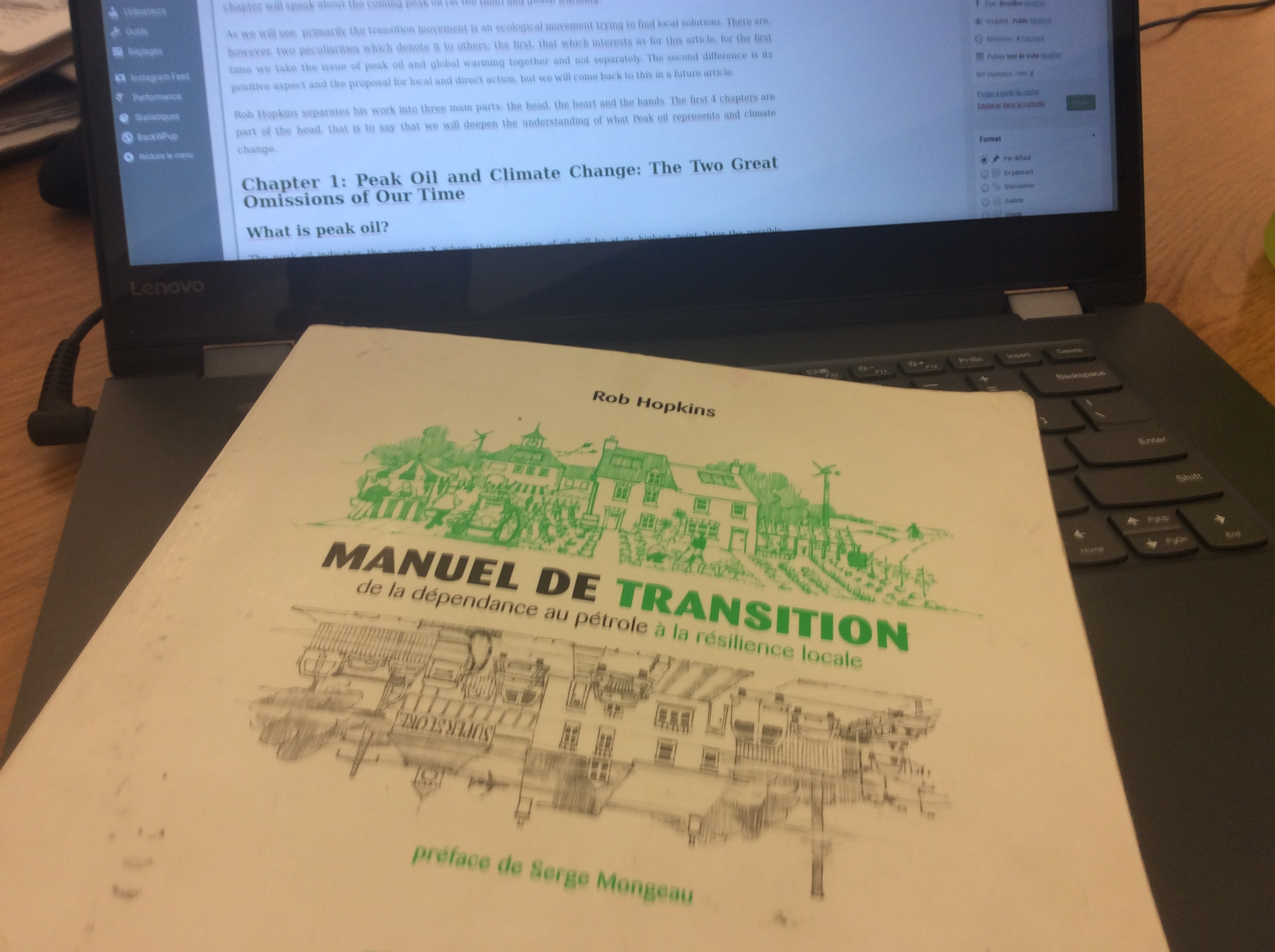 Manuel de transition: chapitre 1, pic pétrolier et changement climatique (partie 1/2)